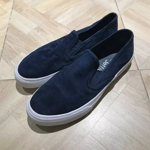 Sperry slip on blue suede men's Jeffrey exclusive